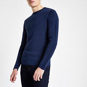 Jack & Jones - Premium blauwe top met ronde hals
