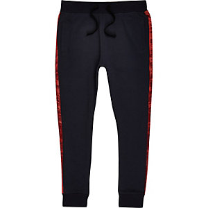 Jack & Jones – Pantalon de jogging bleu marine à bandes latérales