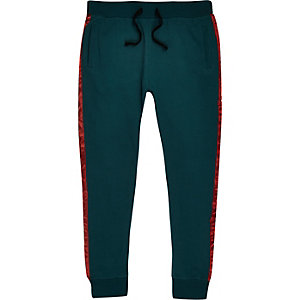 Jack & Jones – Pantalon de jogging vert à bande