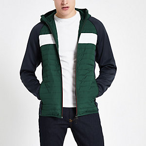 Jack & Jones green quilted coat