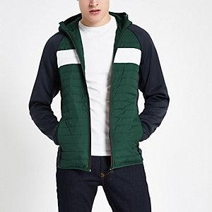 Jack & Jones green quilted coat