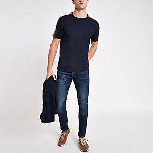 Dark blue wash Sid super skinny jeans