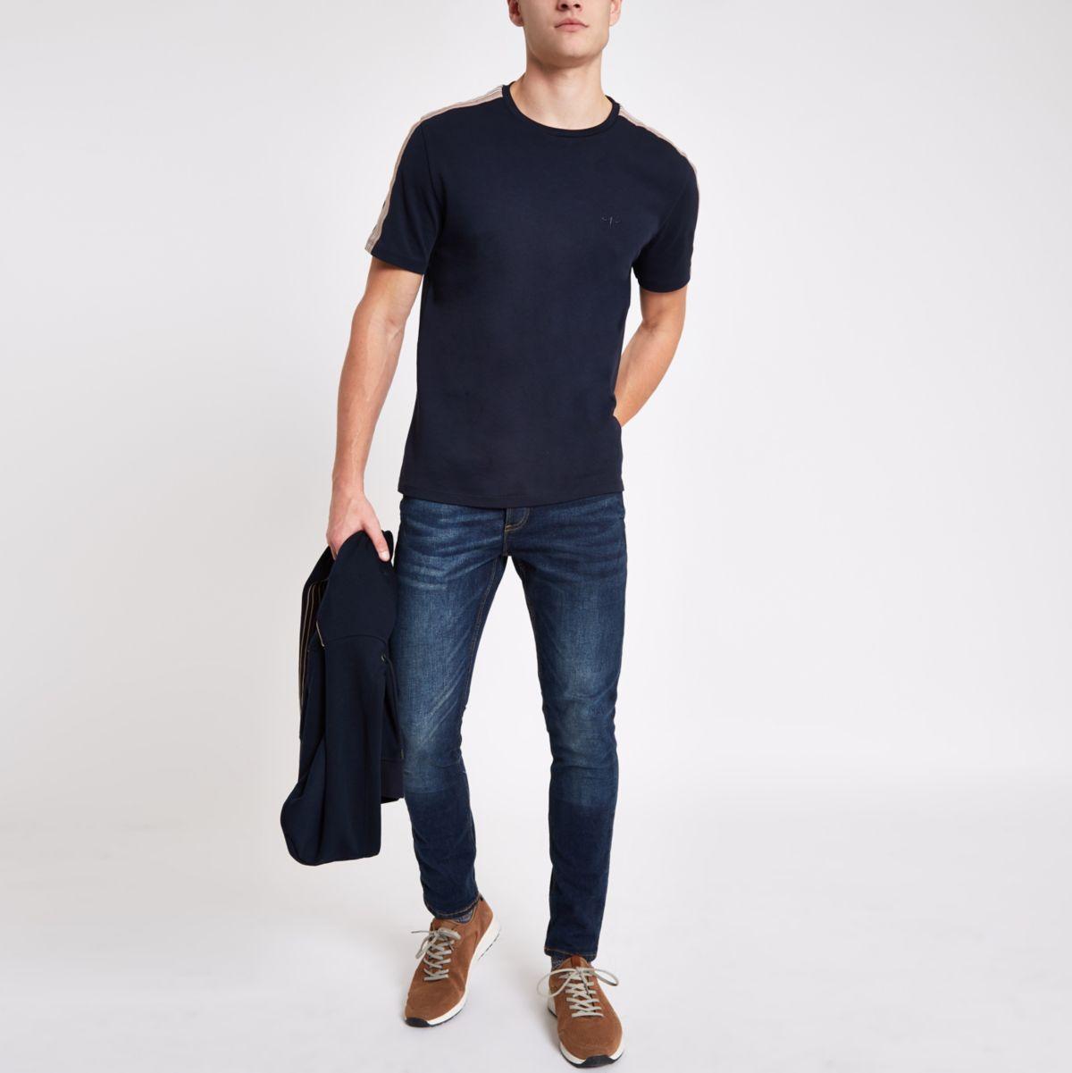 Dark blue wash Sid super skinny jeans