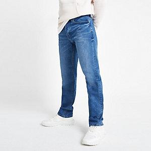 Jean droit bleu moyen
