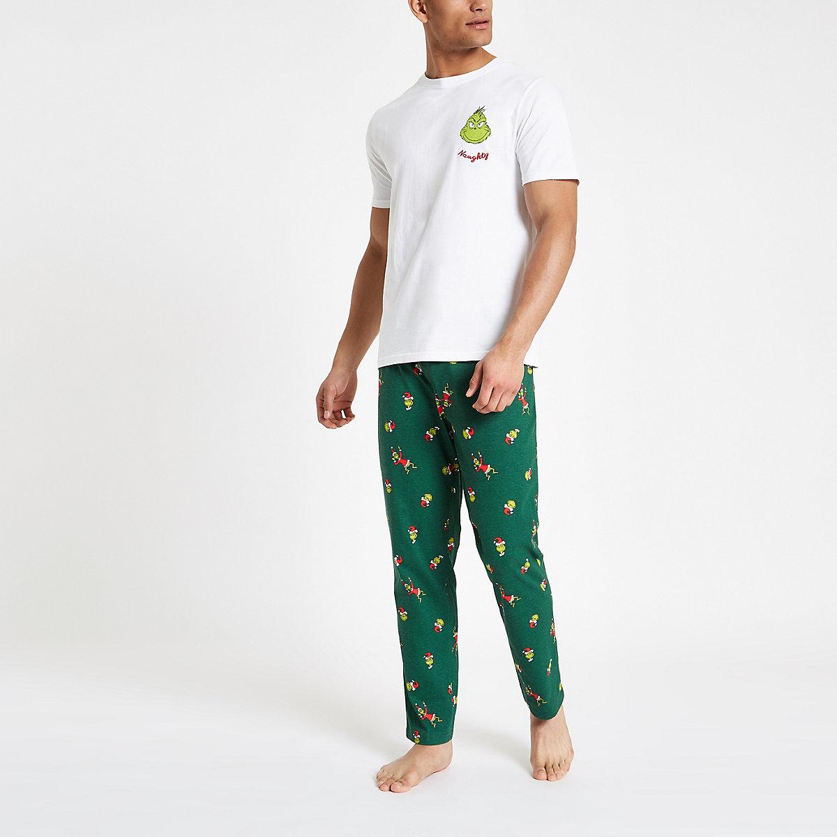 The Grinch green pajama set