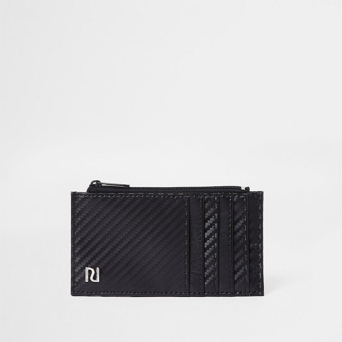 Black contrast texture card holder