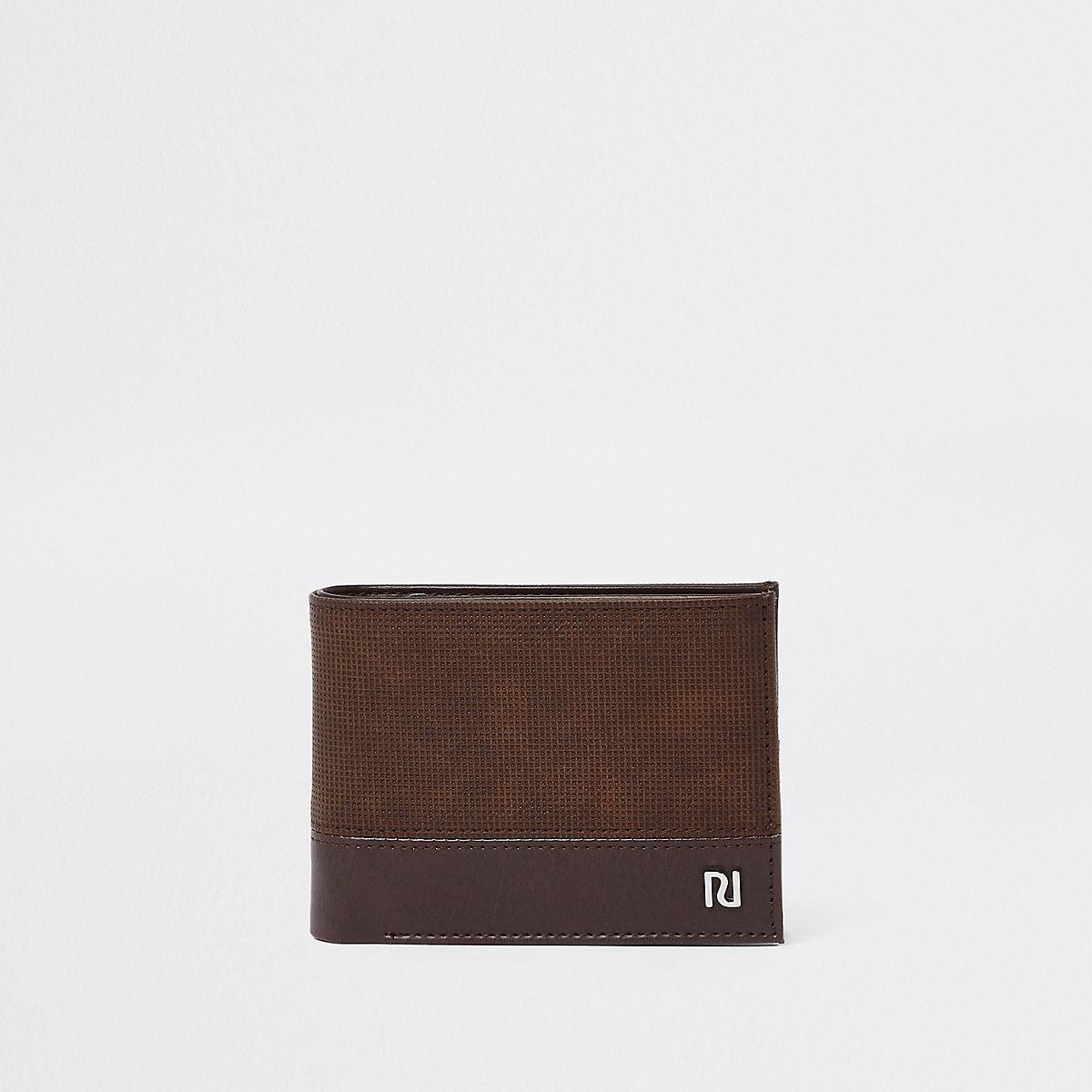 Dark brown perforated wallet