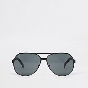 Zwarte metalen pilotenzonnebril