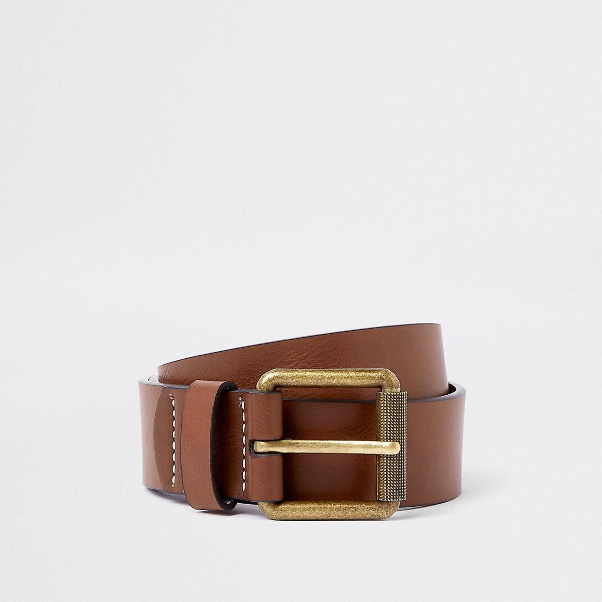 Brown buckle belt