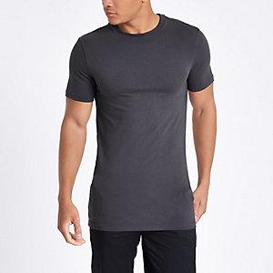 T-shirt ajusté ras-du-cou gris