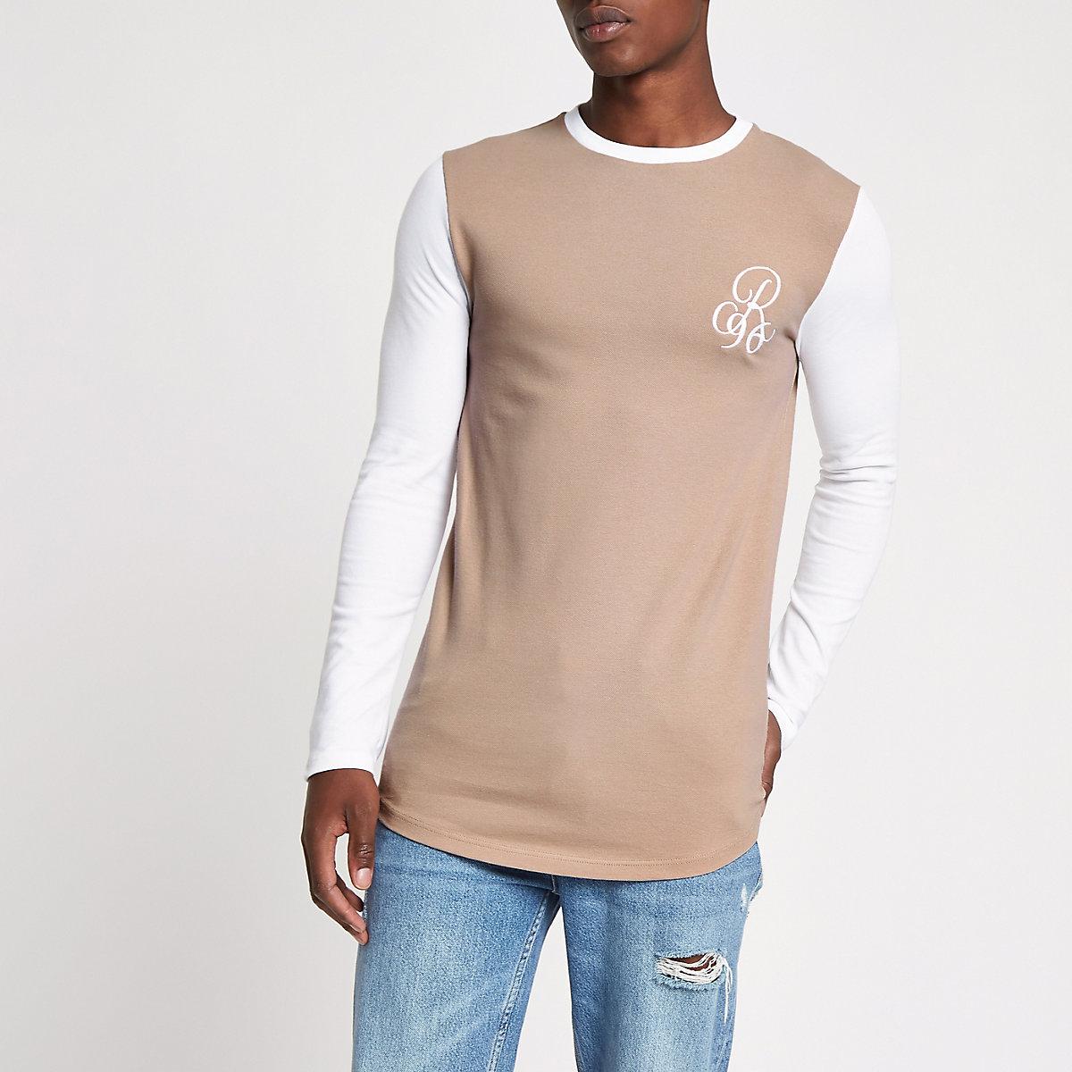 Stone muscle fit raglan sleeve top