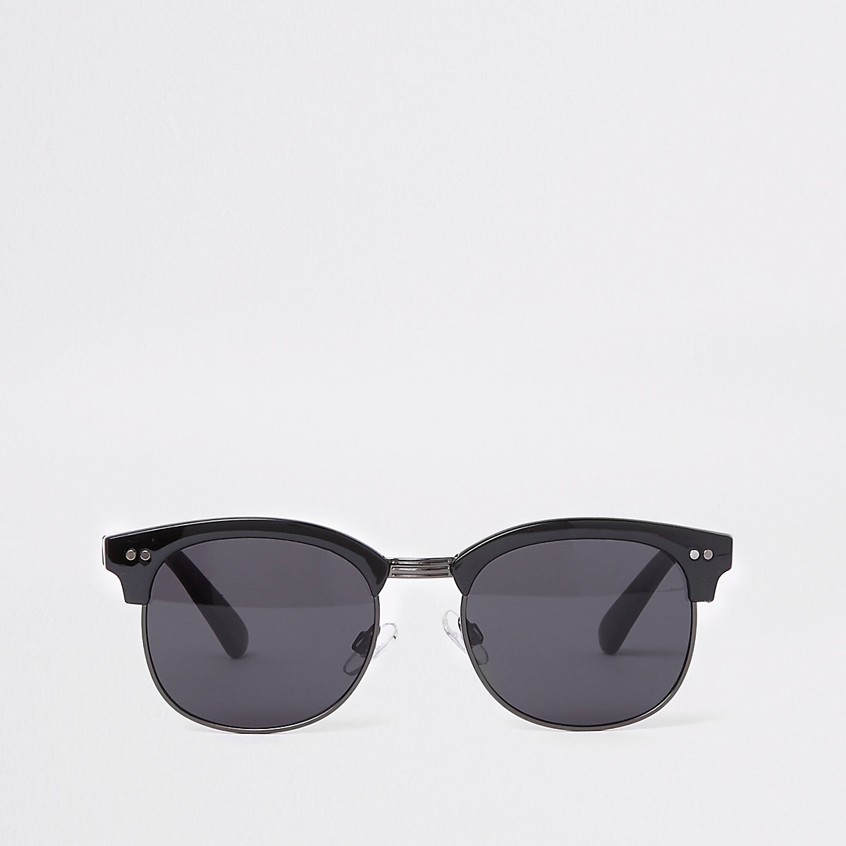 Black tinted lens retro frame sunglasses