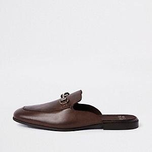 Dunkelbraune Loafer aus Leder