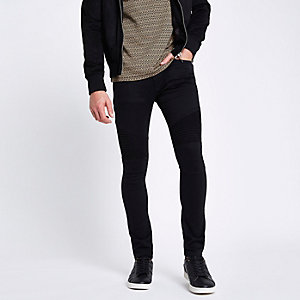 Black Danny super skinny biker jeans