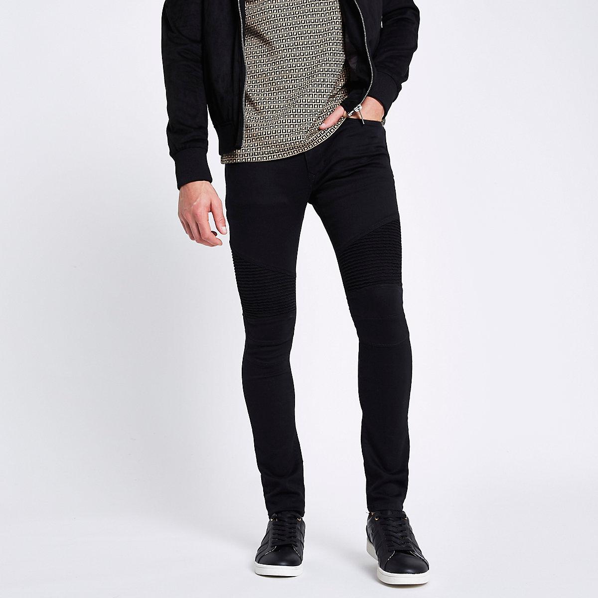 Danny – Jean super skinny noir style motard