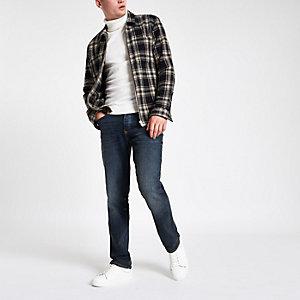 Dean – Blaue Straight Leg Jeans
