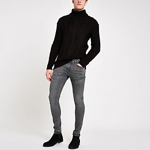 Danny – Jean super skinny gris usé