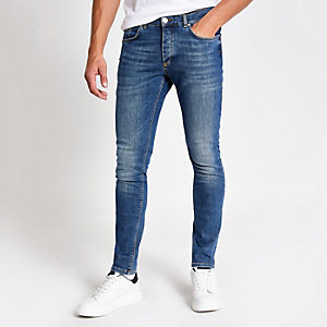 Middenblauwe skinny-fit jeans