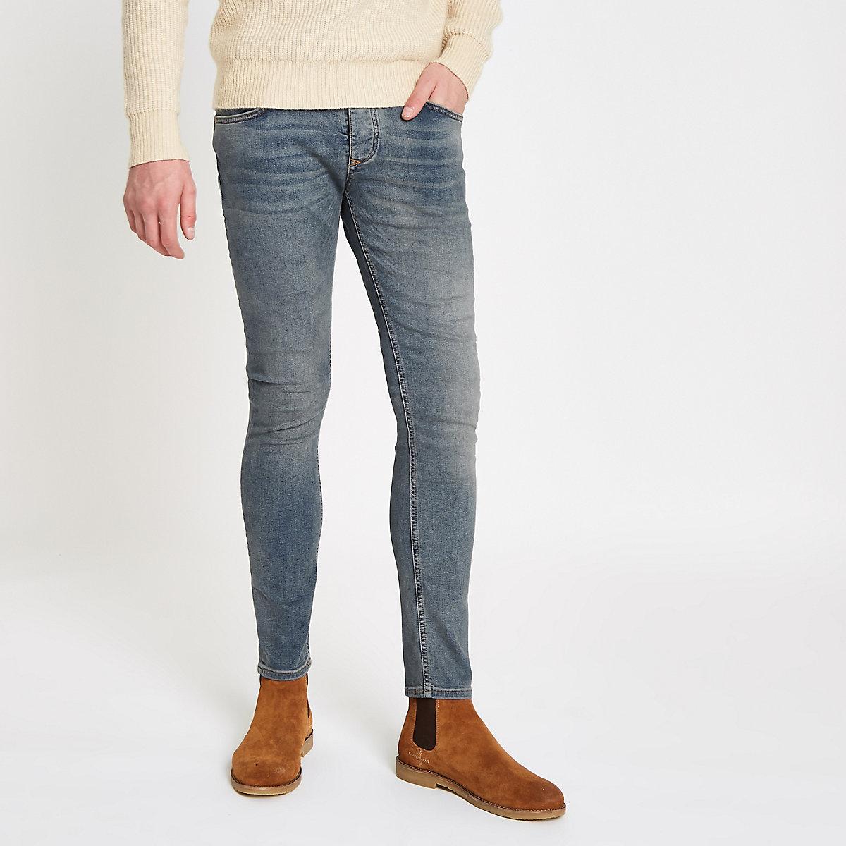 Light blue washed Sid skinny jeans