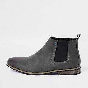 Donkergrijze Chelsea boots