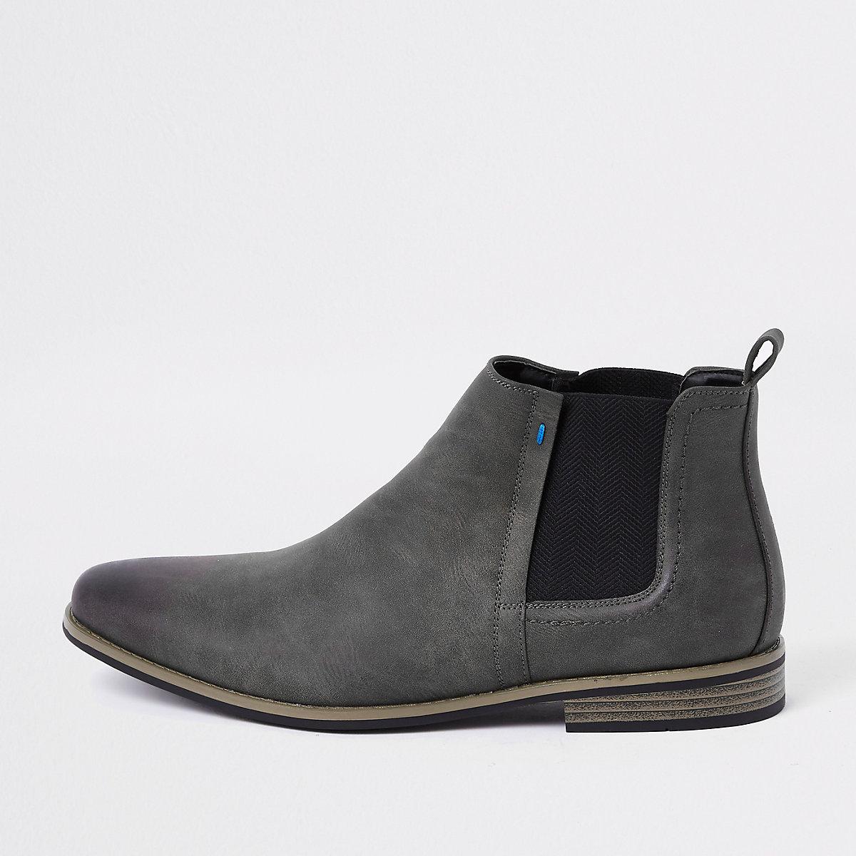 Dark grey chelsea boots