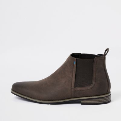 Brown Chelsea Boots by River Island