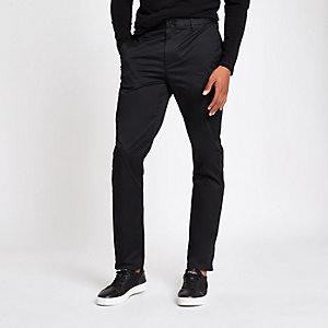 Black slim fit chino pants