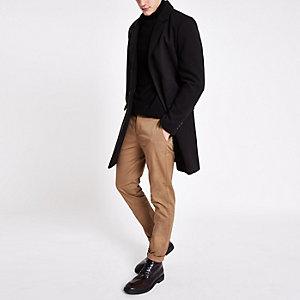 Sid - Lichtbruine skinny nette broek