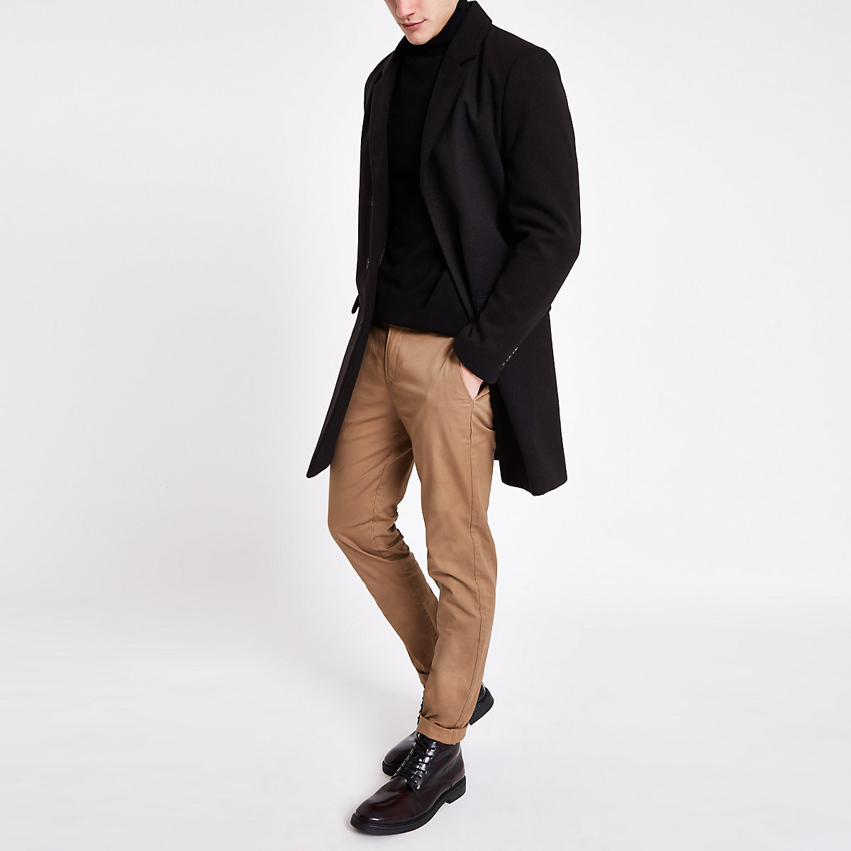 Light brown skinny Sid smart trousers