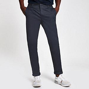 Navy skinny Sid smart trousers