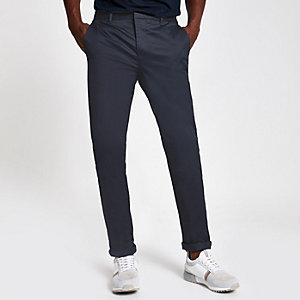Sid – Pantalon habillé skinny bleu marine