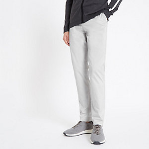 Sid – Steingraue, elegante Skinny Hose