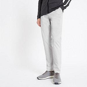Sid - Kiezelkleurige skinny nette broek