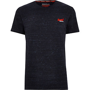 Superdry navy logo print crew neck T-shirt