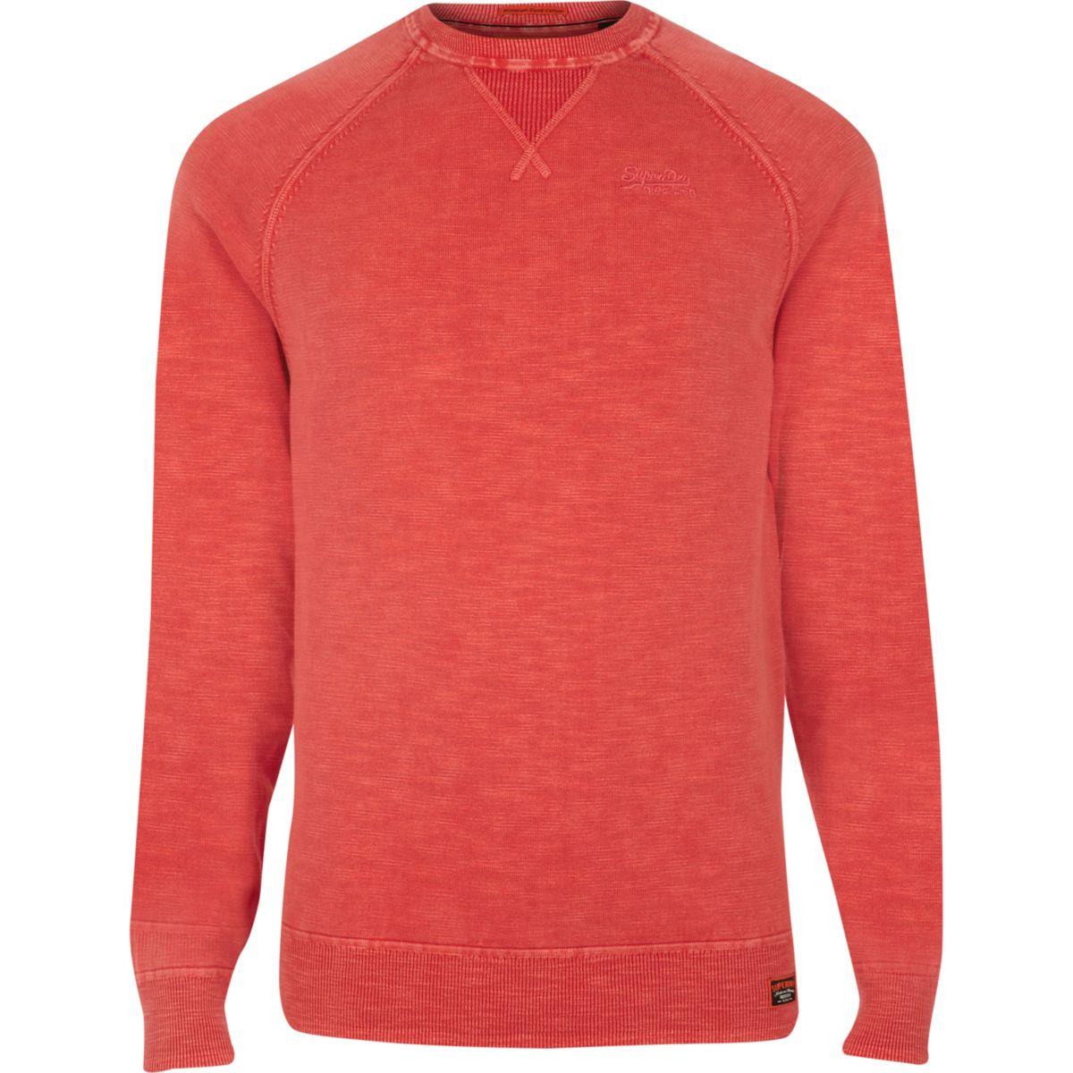 Superdry orange sweater
