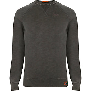 Superdry black sweatshirt