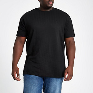 Big and Tall waffle slim fit crew T-shirt