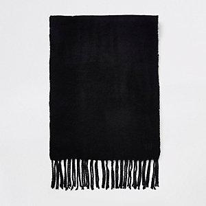 Schwarzer, gewebter Schal