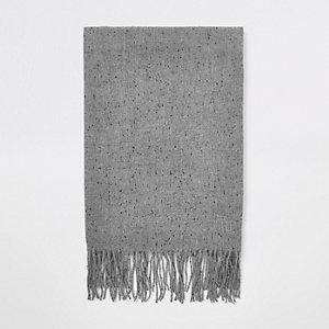 Écharpe tissée grise