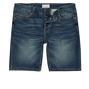 Only & Sons – Short en denim bleu
