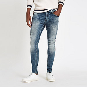 Only & Sons – Skinny Jeans in blauer Waschung