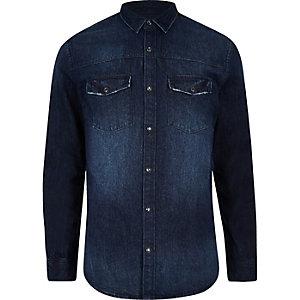 Only & Sons blue denim shirt