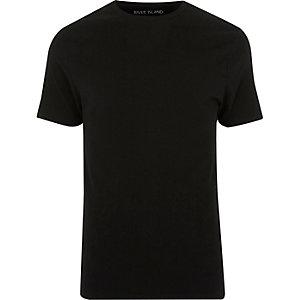 Big & Tall – T-shirt ajusté ras-du-cou noir