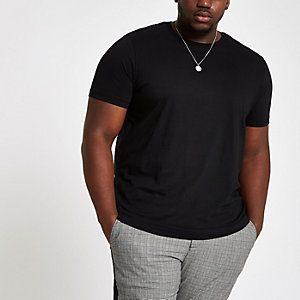 Big and Tall – T-shirt slim noir