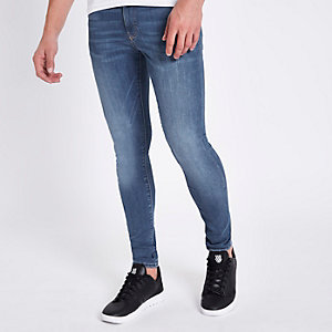 Ollie - Middenblauwe superskinny spray-on jeans