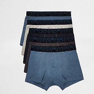 Multipack strakke boxers met RI-print op de tailleband