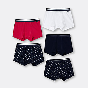 Khaki multicoloured trunks multipack