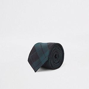 Cravate à motif écossais verte