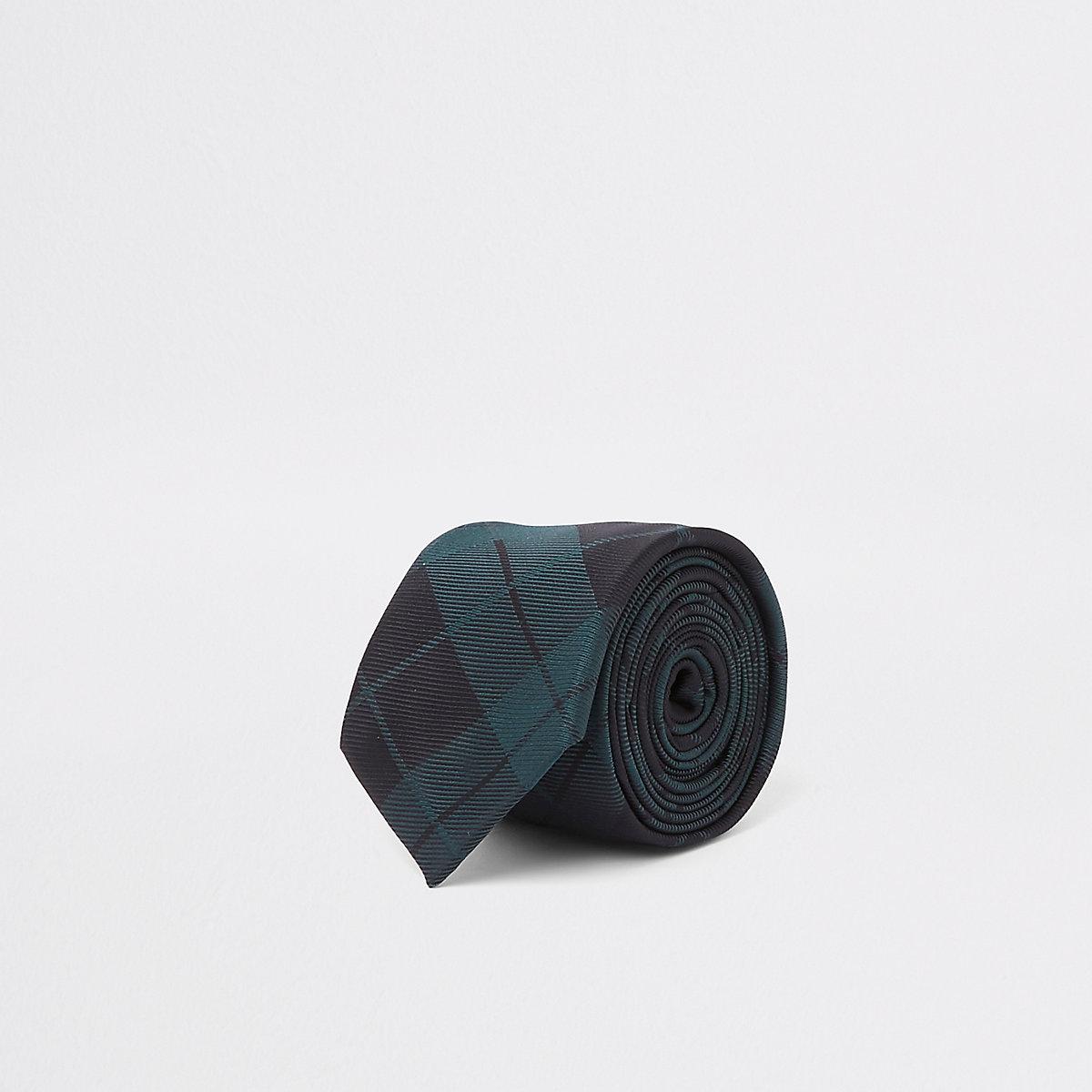 Green plaid tie