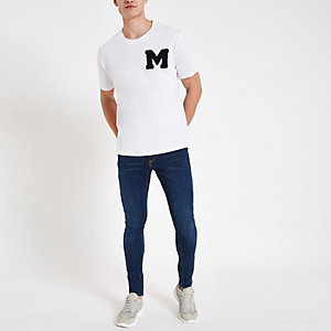 Minimum white embroidery T-shirt